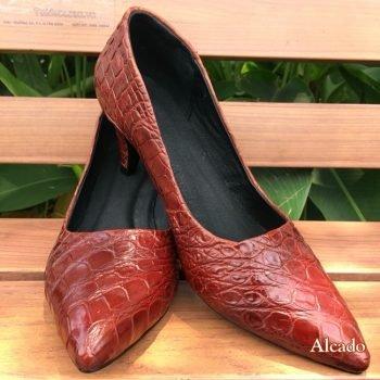 Giày Da Cá Sấu Nữ Giá Rẻ Mã SP: GN02