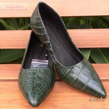 Giày Nữ Da Cá Sấu Thật Giá Rẻ GN05
