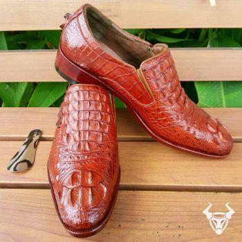 Giày Da Cá Sấu Nam Cao Cấp GCS07