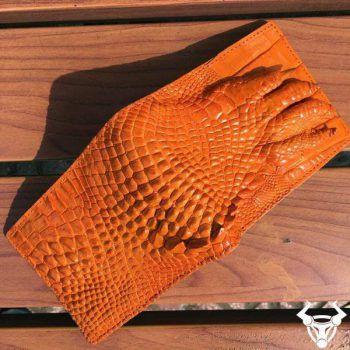 Bóp Nam Da Cá Sấu Thật Móng Vuốt BCS50