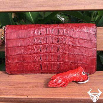 Bóp Nữ Da Cá Sấu Thật Xuất Khẩu VN08