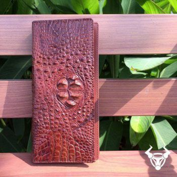 Ví Cầm Tay Nam Da Cá Sấu Thật Đựng Iphone VCT11