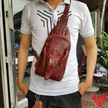 Túi Đeo Chéo Sau Lưng Da Cá Sấu TF0410-2