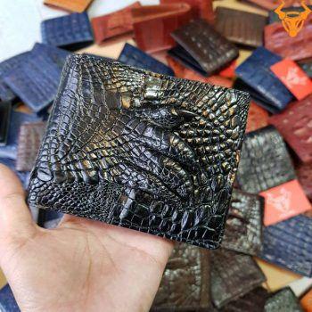 Ví Da Cá Sấu Bàn Chân Đen VB0106