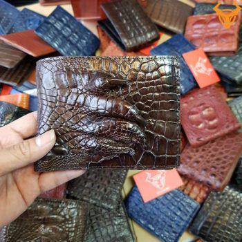 Ví Da Cá Sấu Thật Bàn Tay VB0206