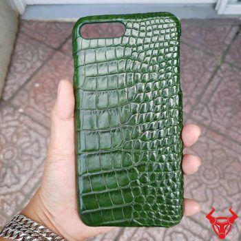 Ốp Lưng Cá Sấu Iphone 8 Plus Trơn Xanh Lá OG1108