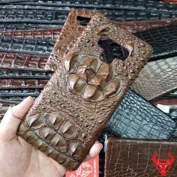 Ốp Lưng Da Cá Sấu Samsung Note 9 Gù Nâu