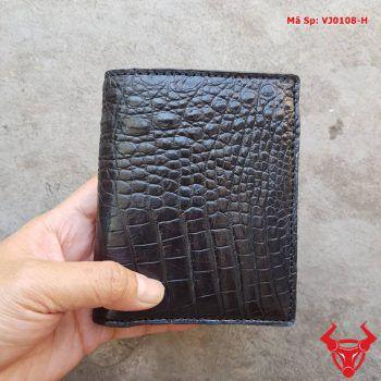 Ví Đứng Cho Nam Da Cá Sấu VJ0108-H