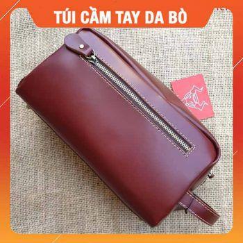 Túi Cầm Tay Da Bò Sáp TCT02
