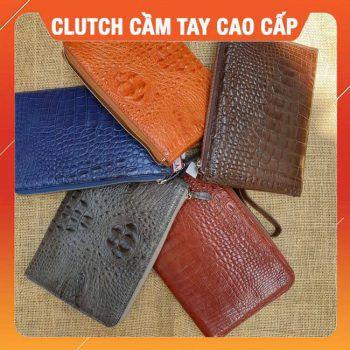 Túi Clutch Nam Da Cá Sấu Cao Cấp